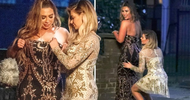 Towie star Lauren Goodger and former Love islander Megan Barton Hanson put on a raunchy display on Celebs Go Dating