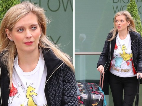 Pregnant Rachel Riley glows as she leaves Countdown studio after filming