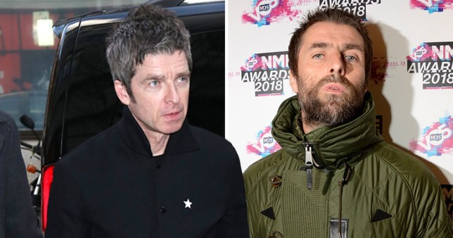 Oasis singers and brothers Noel Gallagher and Liam Gallagher