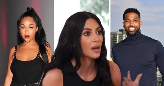 Kim Kardashian, Jordyn Woods and Tristan Thompson