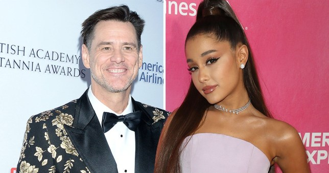 Ariana Grande and Jim Carrey com