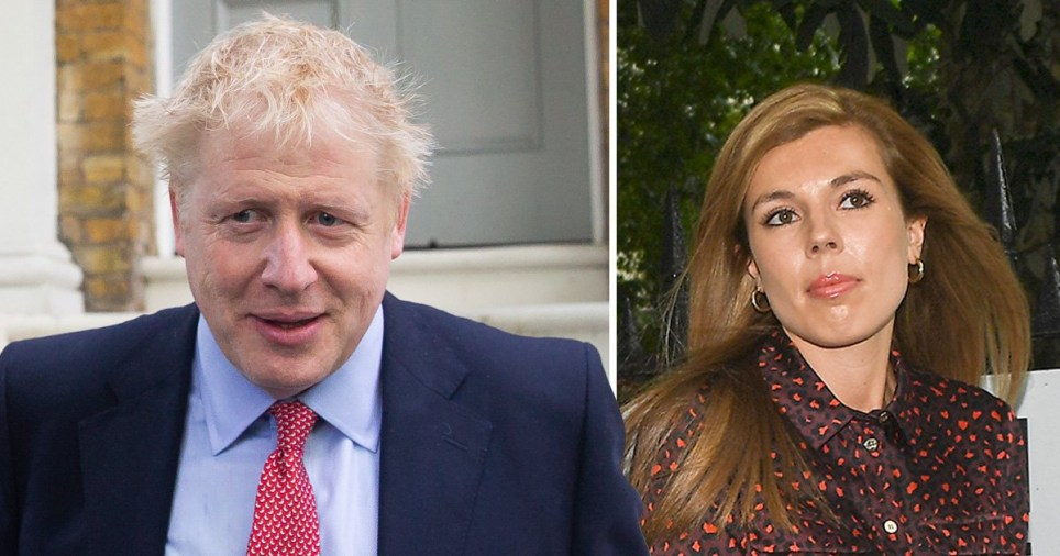 Tory leadership contender Boris Johnson and his girlfriend Carrie Symonds