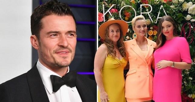 Katy Perry with fiancee Orlando Bloom's ex Miranda Kerr