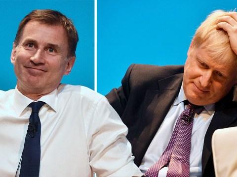 Jeremy Hunt ahead in Tory leadership polls as Boris Johnson's popularity takes a hit