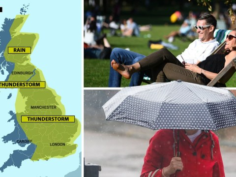 Britain set for a month's worth of rain in 24 hours before heatwave kicks in
