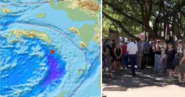 The 7.3 earthquake struck in the Banda Sea