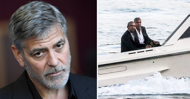 George Clooney had a plumbing disaster as Obamas arrived in
