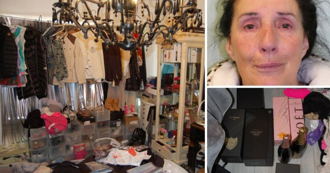 A cat charity boss enslaved a pensioner, forcing her to live outside and eat pet food, while spending on designer clothes, holidays and Champagne