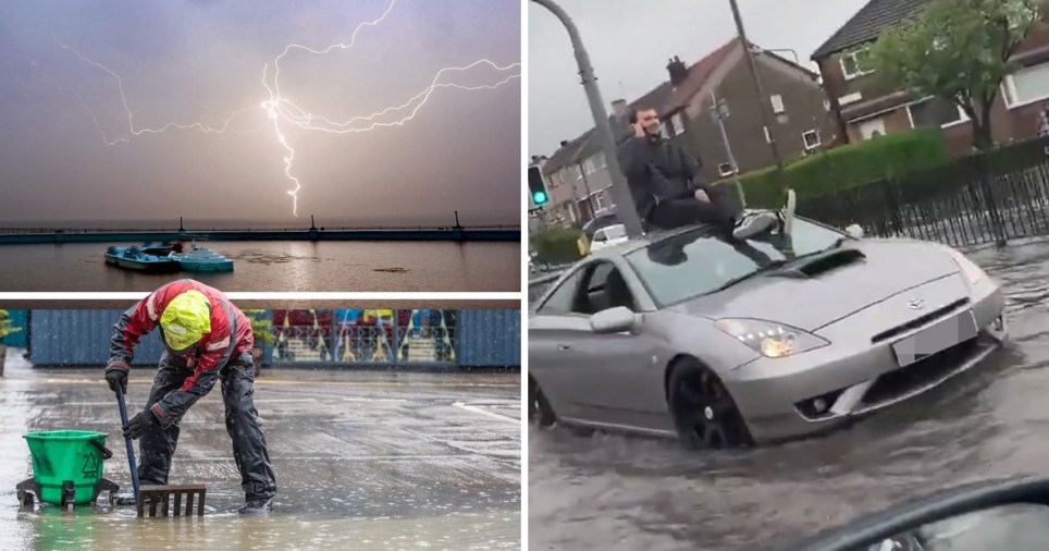 Weather warnings are in place across the country as heavy rain makes travelling difficult this morning