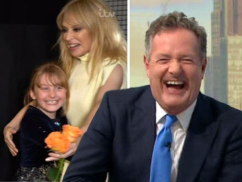 Kylie Minogue fans melt Piers Morgan's heart after they sing dying mum's favourite song to popstar