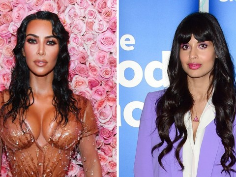 Jameela Jamil refuses to cover up eczema scars as she rallies against Kim Kardashian's body makeup