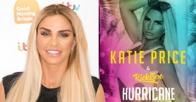 Katie Price releases new single Hurricane
