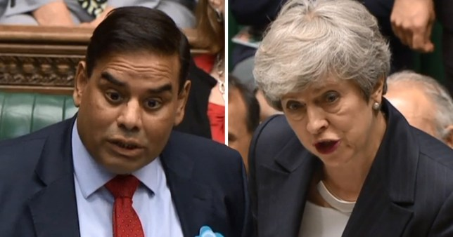 Theresa May was challenged by Labour MP Khalid Mahmood
