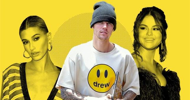 Hailey Baldwin, Justin Bieber and Selena Gomez