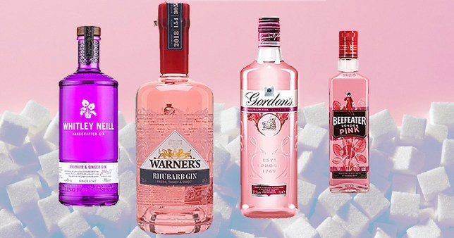 Some of the gins  - WHitley Neill, Warners, Gordons and Beefeater