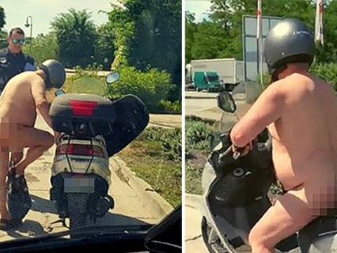 Naked man riding scooter in heatwave tells German police 'it's too hot'