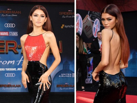 Zendaya takes Spider-Man, but make it fashion, in backless gown at Far From Home premiere