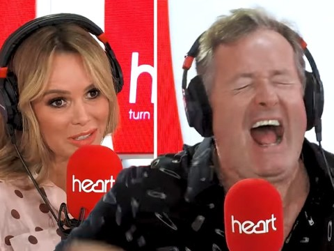 Piers Morgan squeals in pain getting electrocuted by Amanda Holden while answering tough questions