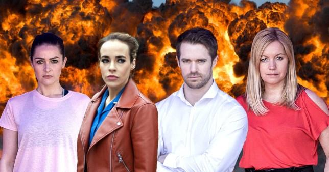 Hollyoaks stunt revealed
