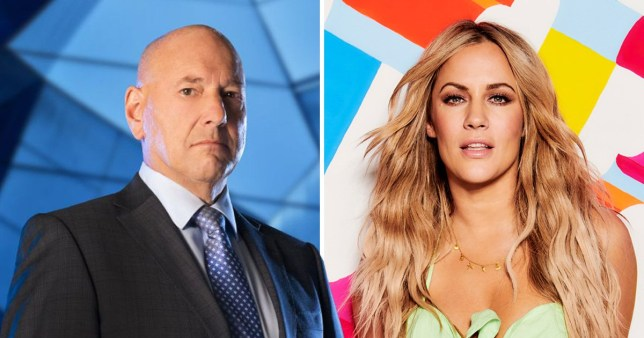 Claude Littner and Caroline Flack