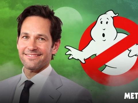 Paul Rudd jokes he is 'sliming himself' as he joins Jason Reitman's new version of Ghostbusters