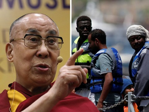 Europe 'will become Muslim if refugees don't go home', Dalai Lama says
