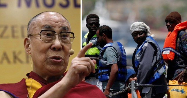 The Dalai Lama has said he thinks Europe could become 'African or Muslim' if refugee stay in their adopted countries