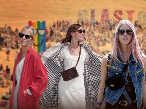 Sienna Miller and Suki Waterhouse won't forsake style for the sunshine at Glastonbury