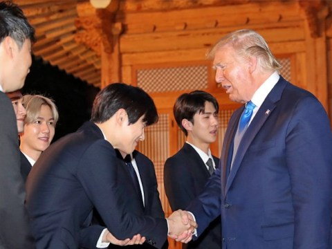 Donald Trump lines up to meet EXO as group gifts President with signed K-Pop album