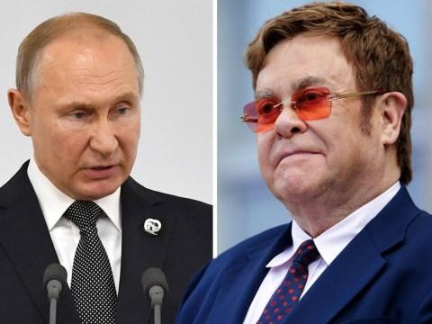 Elton John slams Vladimir Putin for gay rights 'hypocrisy' over Rocketman censorship