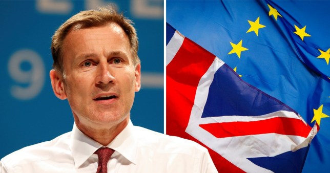 Jeremy Hunt has said he could withhold the Brexit divorce bill in the event of no deal