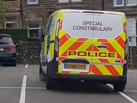 Police van 'dumped' across four parking spaces in council car park