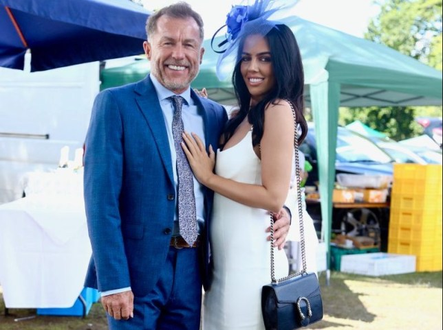 Chris Quintin and fiancee Robyn Delabarre at Ascot