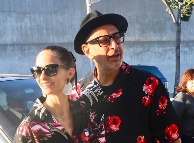 Jeff Goldblum and wife Emilie Livingston