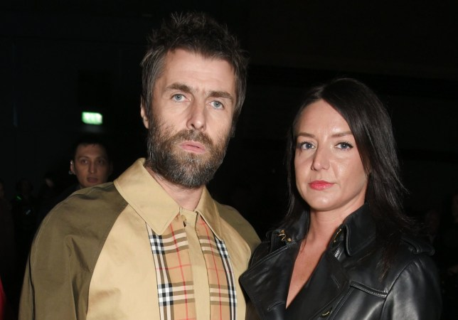 Liam Gallagher and Debbie Gwyther pose for a photo in London in 2018.