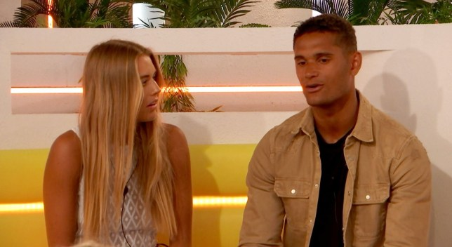 Editorial Use Only. No Merchandising. No Commercial Use Mandatory Credit: Photo by ITV/REX (10321126n) Danny Williams and Arabella Chi chat 'Love Island' TV Show, Series 5, Episode 20, Majorca, Spain - 25 Jun 2019 - Villa divides over Yewande exit - First kiss for Arabella and Danny - Maura and Tom lock lips - but is he all that into her? - Molly-Mae's lips are sealed - but are Tommy's? - Is Lucie ready for another romance?