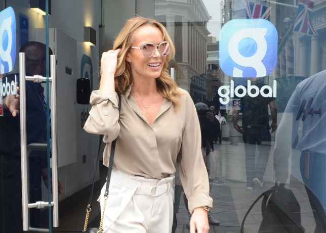 Amanda Holden seen leaving Heart FM in London