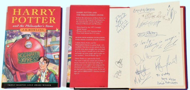 A rare Harry Potter book which contains actor Daniel Radcliffe's very first autograph