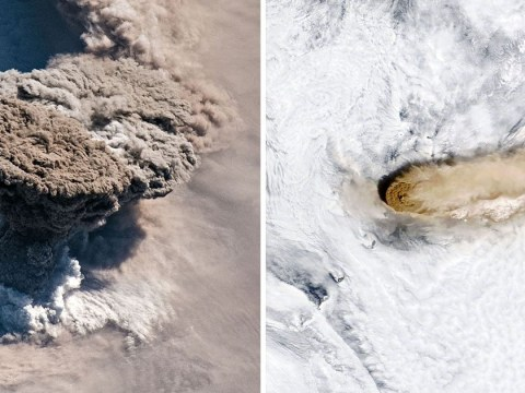Volcanic eruption in the Pacific Ocean was so large it was photographed from space