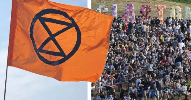 Thousands are expected to join Extinction Rebellion at Glastonbury Festival to create a giant human hourglass