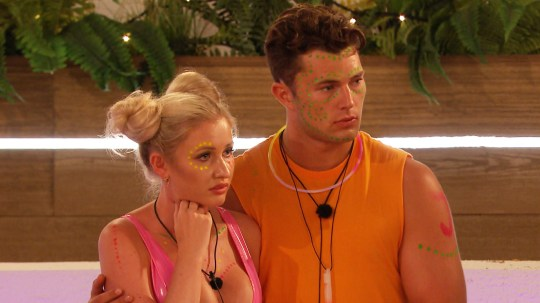 This image is strictly embargoed from publication until 22.15 Thursday 27th June 2019 From ITV Studios Love Island: SR5: Ep22 on ITV2 Pictured: Amy and Curtis vulnerable. This photograph is (C) ITV Plc and can only be reproduced for editorial purposes directly in connection with the programme or event mentioned above, or ITV plc. Once made available by ITV plc Picture Desk, this photograph can be reproduced once only up until the transmission [TX] date and no reproduction fee will be charged. Any subsequent usage may incur a fee. This photograph must not be manipulated [excluding basic cropping] in a manner which alters the visual appearance of the person photographed deemed detrimental or inappropriate by ITV plc Picture Desk. This photograph must not be syndicated to any other company, publication or website, or permanently archived, without the express written permission of ITV Picture Desk. Full Terms and conditions are available on the website www.itv.com/presscentre/itvpictures/terms For further information please contact: james.hilder@itv.com / 0207 157 3052