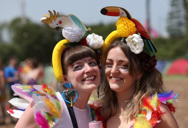 people at glastonbury festival 2019