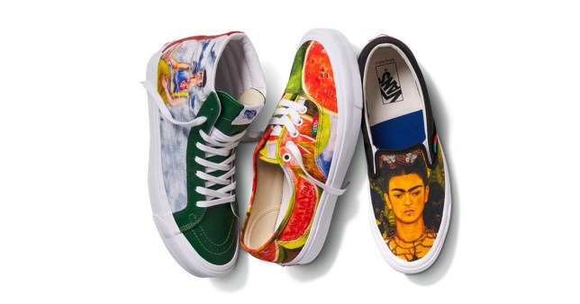 These gorgeous new Vans are inspired by Frida Kahlo's artwork