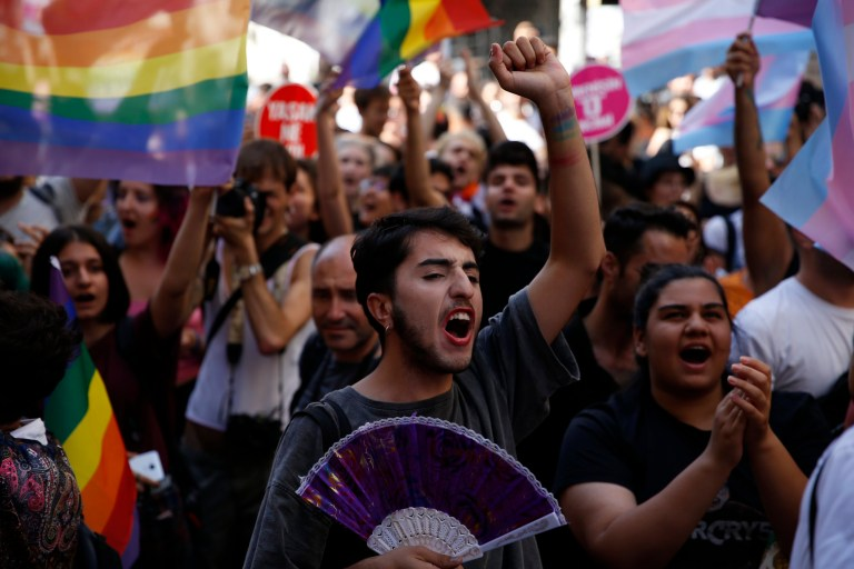 Gay pride march in Istanbul started with 30 people in