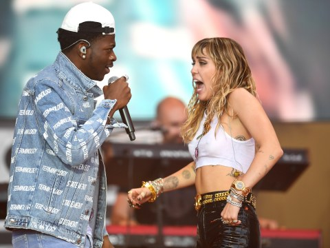 Miley Cyrus supports 'baby brother' Lil Nas X as Glastonbury reception 'inspires him to come out'