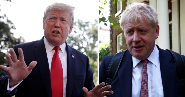 Donald Trump has given his backing to his 'friend' Boris Johnson to take over from Theresa May