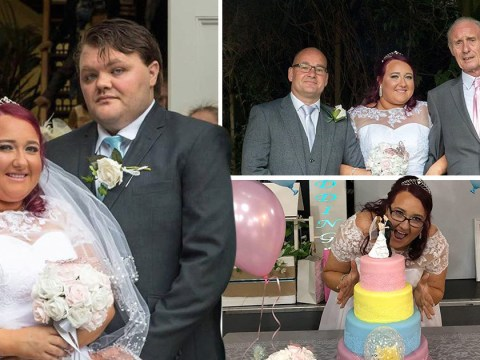 Bride organises her wedding for just £1,320 so sick granddad can walk her down the aisle