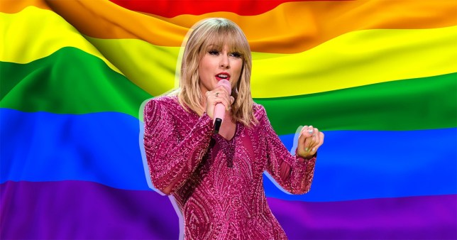 Taylor Swift - LGBT Flag