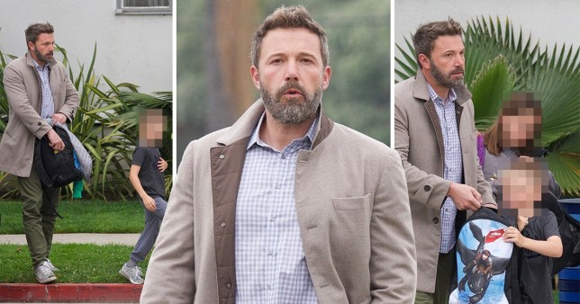 Ben Affleck steps out with kids