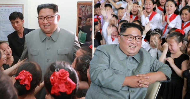 Kim Jong-un was seen paying a school visit after 'executing his former dilomats'
